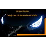 Focos Faros Hyundai Elantra Luz Continua Dual (blanco+ambar)