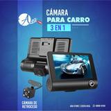 Dash Cam 1080p Para Carro Triple Cámara 3 En 1  Para Carro