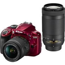 Nikon D3400 24.2mp,lentes Af-p 18-55 Y 70-300mm. Nueva.r Y M