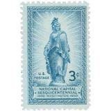 Us Sc #989 - 1950 3c Statue Of Freedom On Cap Con Matasello.