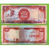 Billete De Trinidad & Tobago 1 Dollar 2006 P-46a Vf , Mlc
