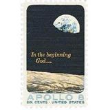 Us Sc #1371 - 1969 6c Apollo 8 Moon Orbit Con Matasello.