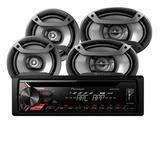 Combo Pioneer Radio Usb + 4 Parlantes Tienda Playsound