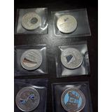 6 Monedas De Colección Conmemorativa Canal De Panamá 25 Cts
