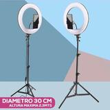 Aro De Luz 30cm + Trípode De 2.10 + Soporte De Celular