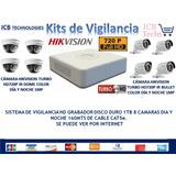 Sistema De Seguridad Hikvision 8 Cámaras Hd 720p