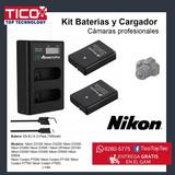 Kit Baterias Y Cargador Camaras Nikon En-el14 El14 Enel14