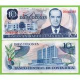 Billete De Costa Rica 10 Colones 1972, Serie-d , P-237a* Mlc