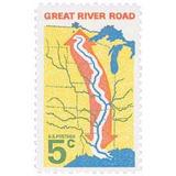 Us Sc #1319 - 1966 5c Great River Road Con Matasello.