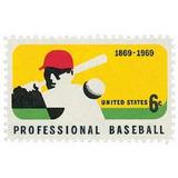 Us Sc #1381 - 1969 6c Professional Baseball Con Matasello.