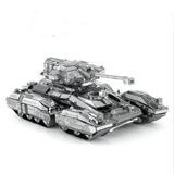 Aipin Diy 3d Rompecabezas Acero Inoxidable Scorpio Tank