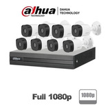 Kit 8 Camaras Seguridad Dahua 4bullet 4domo 1080p. Fazcam506