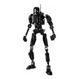 Regalos Creativos Construcción Robots Blocks Negro, Juguetes