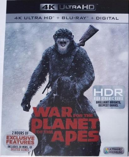 Película En 4k Planet Of The Apes (war), Original, Nueva