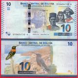 Billete De Bolivia 10 Bolivianos 2018, P-new Unc. Mlc