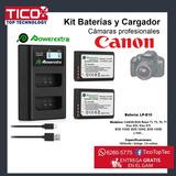Cargador Y Baterias Camara Canon Profesional Rebel T6 Lpe10