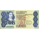 Billete De Sudafrica 2 Rand Unc Apo