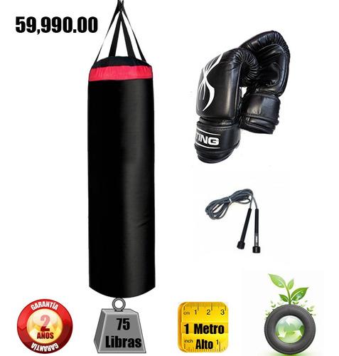 Saco Boxeo Mma Equipamientos De 75 Lbs Guantes Sting  Cuerda