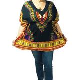 Blusa De Dama Con Estampados Afrocaribeños