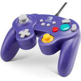 Control Alambrico Nintendo Switch Game Cube Style Morado