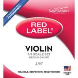 Juegos De Cuerdas P/ Violín De 4/4 3/4 1/2 1/4 1/8 Redlabel