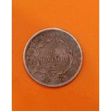 Moneda De Costa Rica Antigua De Plata 5 Centavos 1887 Jmg