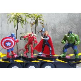 Figura  Avenger  4  Unidades  Con Pedestal