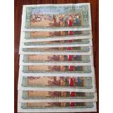 Lote De 10 Billetes Antiguos De Costa Rica De 5 Colones Jmg