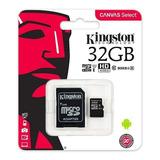 Kingston Memoria Canvas Select Micro Sd 32 Gb Clase 10