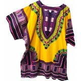 Camisa De Caballero Con Estampados Africaribeños