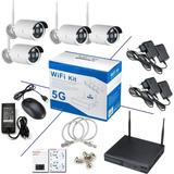 Kit Seguridad Nvr Dvr 4 Camaras Wifi 5g Camara Seguridad