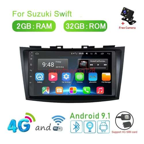 Equipo Sonido Radio Gps 4g ,  Android 9.susuki Swift 2006-10