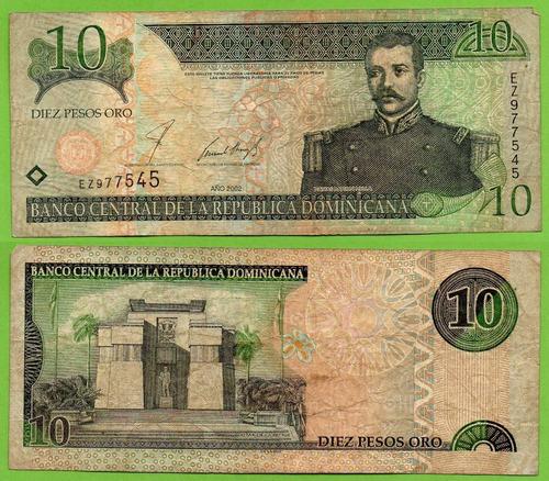 Billete De Republica Dominicana 10 Pesos 2002, P-169 .mlc