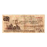 Billete Costa Rica 20 Colones Serie Z  28 Junio 1983
