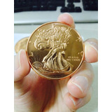 Moneda Walking Liberty De Cobre Pura .999