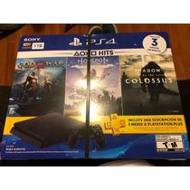 Consola Ps4 Playstation 1tb Bundle Hits 3 Juegos Facturado
