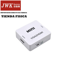 Convertidor Vga A Hdmi Con Audio Pc Laptop A Tv Jwk Vision