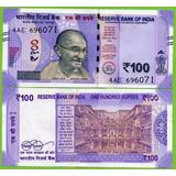 Billete De India 100 Ruooes 2018 P-new  Unc. Mlc