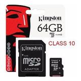 Memoria Micro Sd 64gb Kingston Sdc10g2/64gb Clase 10