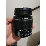 Lente Canon 18-55 Mm
