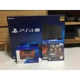 Playstation 4 Pro 4k + 2 Controles + 2 Juegos