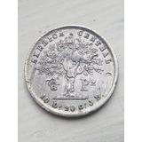 Moneda De 1/8 Peso 1855 De Costa Rica