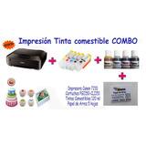 Impresión Comestible Combo Impresora,cartuchos, Tinta, Papel