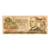Billete Costa Rica 50 Colones Serie C 12 Junio 1974