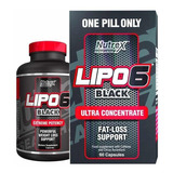 Lipo 6 Black Ultra 60caps Quemador De Grasa Unique Store Cr