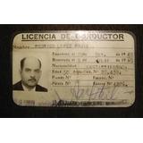 Licencia Antigua De Conducir Año 1961