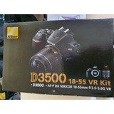 Camara Reflex Nikon D3500  Nueva