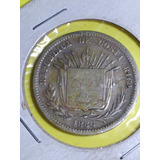 Moneda De Costa Rica 25 Centavos Plata 1886 Jmg