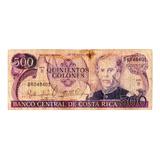 Billete Costa Rica 500 Colones Serie B 20 De Marzo 1985
