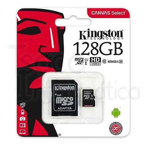 Kingston Micro Sd 128 Gb Clase 10 Con Adaptador Sd